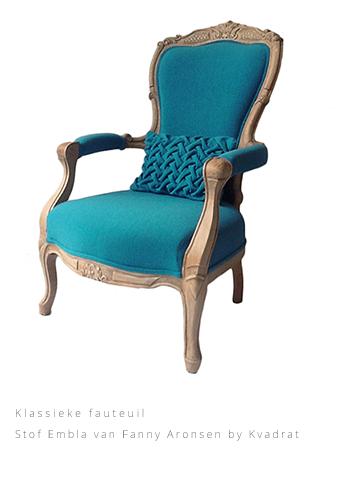 Klassieke fauteuil Stof Embla van Fanny Aronsen by Kvadrat