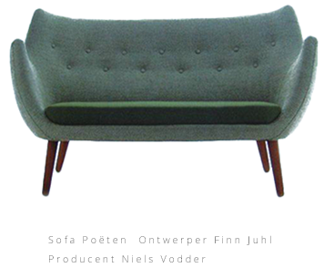 Ontwerper Finn Juhl Producent Niels Vodder Sofa Poёten